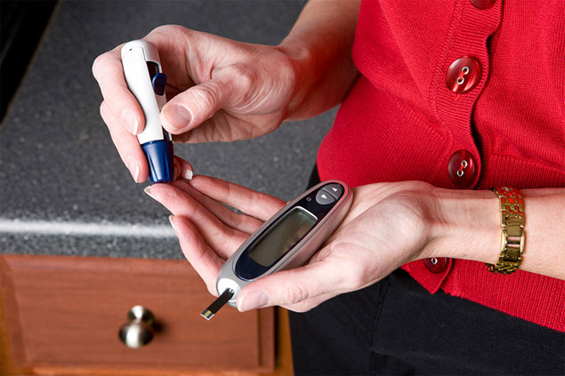 Image of home medical glucose testing.