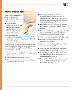 Page from the Healthier at Home book by the American Institute for Preventive Medicine. www.HealthyLife.com. All rights reserved.