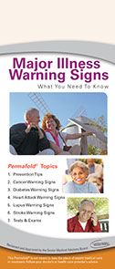 Cover image to the Major Illness Warnings brochure by the American Institute for Preventive Medicine. www.HealthyLife.com. All rights reserved.